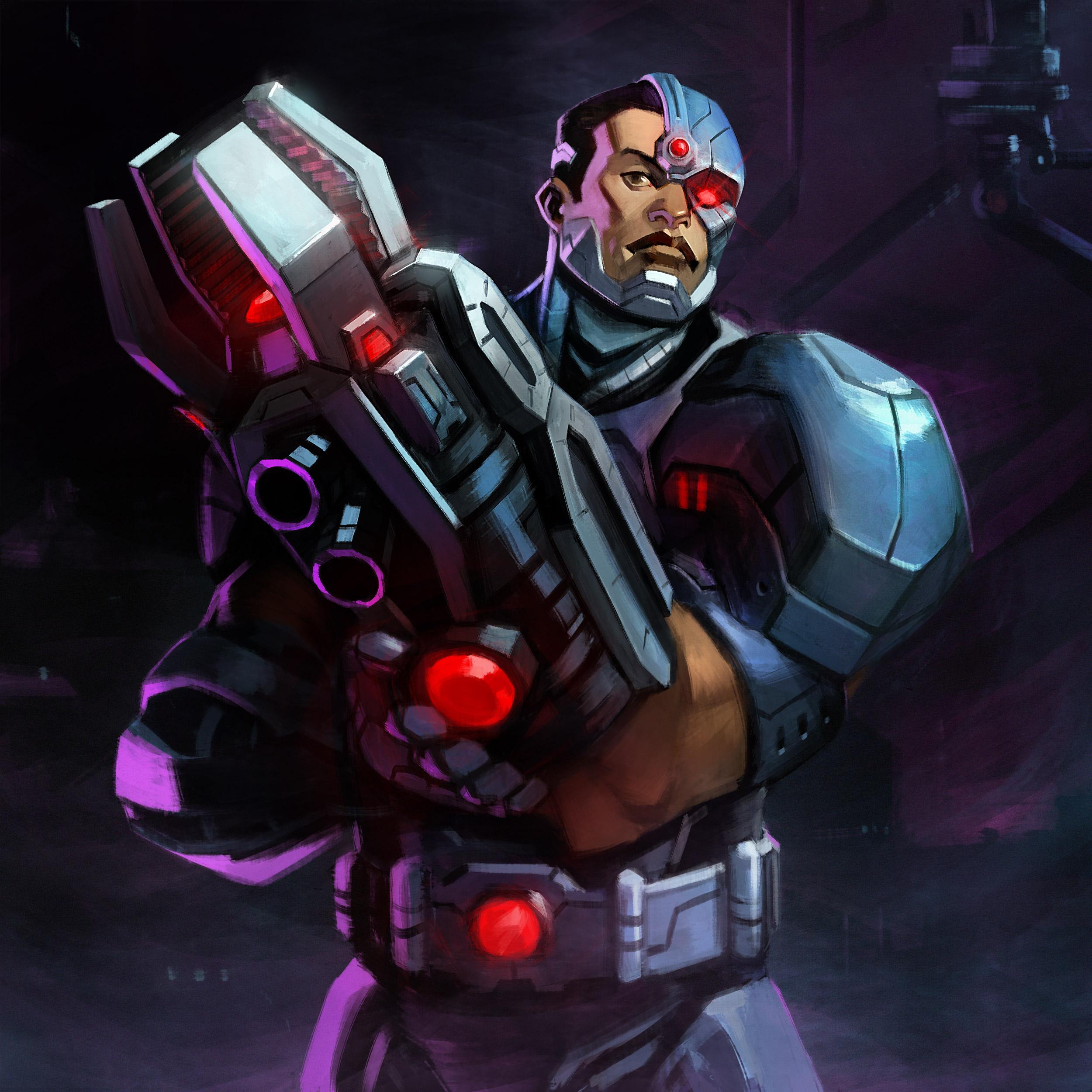 Infinite Crisis – Cyborg art
