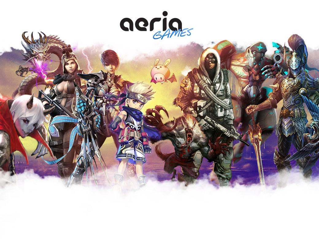 Chaos Heroes Online – heroes & Aeria logo